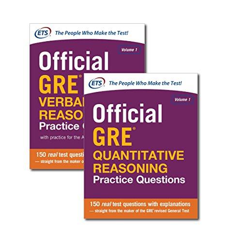 9780071847025: Official GRE Verbal Reasoning Practice Questions / Official GRE Quantitative Reasoning Practice Questions: 1