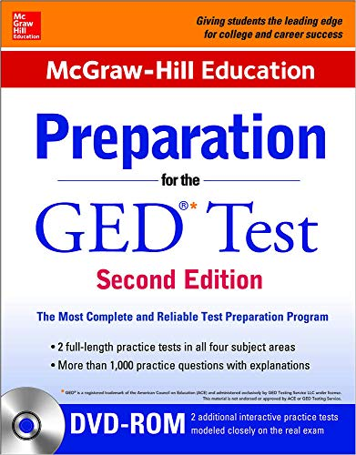 9780071847254: McGraw-Hill Education Preparation for the GED Test with DVD-ROM