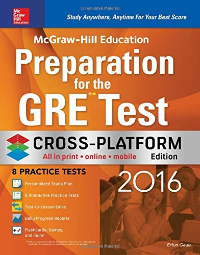 9780071847902: McGraw-Hill Education Preparation for the GRE Test 2016: Cross-Platform Edition