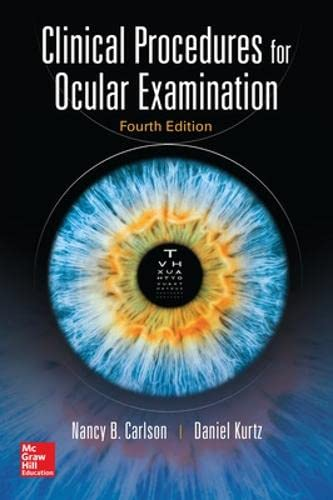 9780071849203: Clinical procedures for ocular examination (Medicina)