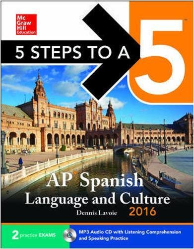 9780071849487: 5 Steps to a 5 AP Spanish Language with MP3 Disk 2016
