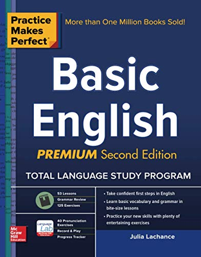 9780071849623: Practice Makes Perfect Basic English, Second Edition: (Beginner) 250 Exercises + Flashcard App + 90-minute Audio (Practice Makes Perfect Series)