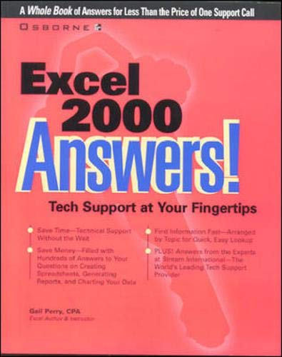 9780072118834: Excel 2000 Answers!