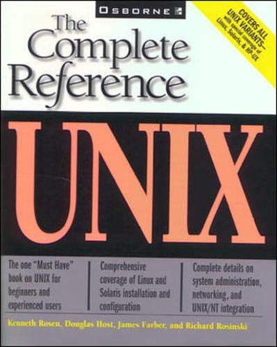 9780072118926: Unix: The Complete Reference