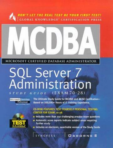 9780072119046: MCDBA SQL Server 7 Administration Study Guide (Book/CD-ROM Set)