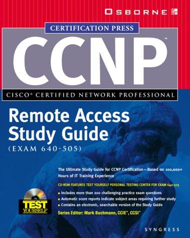 9780072119084: CCNP(TM) Remote Access Study Guide (Exam 640-505)
