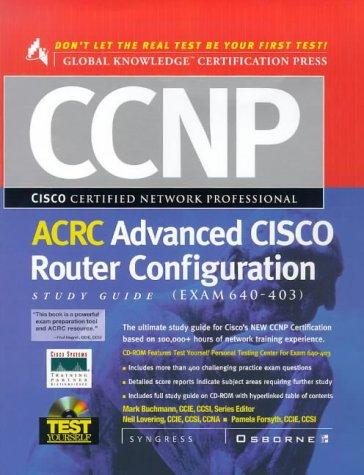 9780072119107: CCNP Advanced CISCO Router Configuration Study Guide : (Exam 640-403)