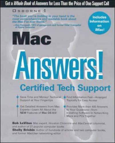 9780072119190: Mac Answers! Certified Tech Support