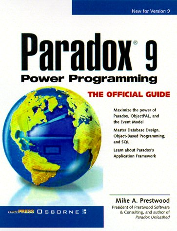 9780072119367: Paradox 9 Power Programming: The Official Guide (CorelPRESS)