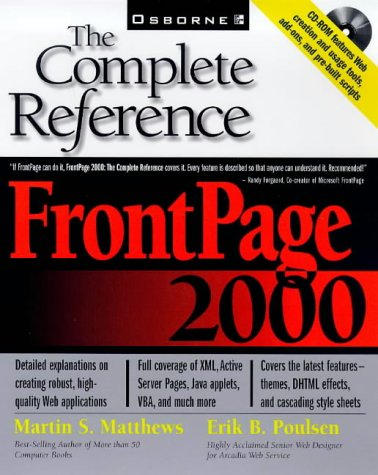 9780072119398: FrontPage 2000: The Complete Reference