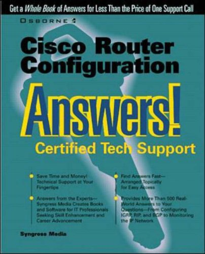 9780072119435: Cisco Router Configuration Answers!: Certified Tech Support
