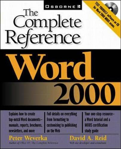 9780072119695: Word 2000: The Complete Reference