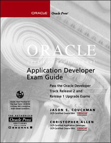 9780072119756: Oracle Certified Professional Application Developer Exam Guide (Oracle Press Series)