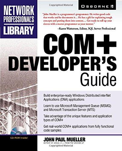 9780072120868: COM+ Developer's Guide (Book CD-ROM package)
