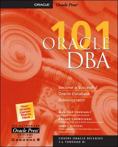 9780072121209: Oracle DBA 101 (Oracle Press Series)