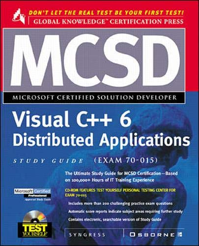 9780072121377: MCSD Visual C++ 6 Distributed Applications Study Guide (Exam 70-015) (Test Yourself)