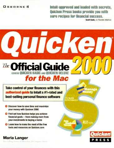 9780072121414: Quicken 2000 for the Mac: The Official Guide