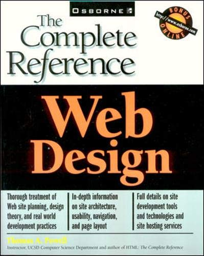 9780072122978: Web Design: The Complete Reference