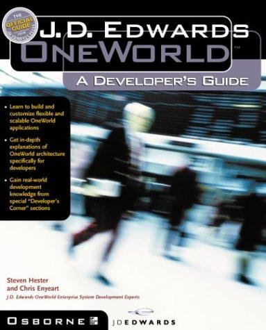 9780072123166: J.D. Edwards OneWorld: A Developer's Guide