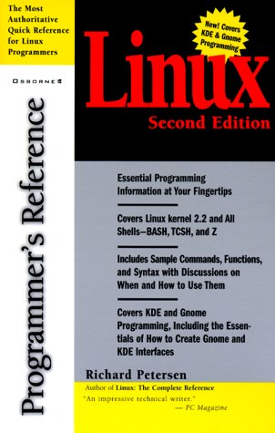 9780072123555: Linux, Programmer's Reference