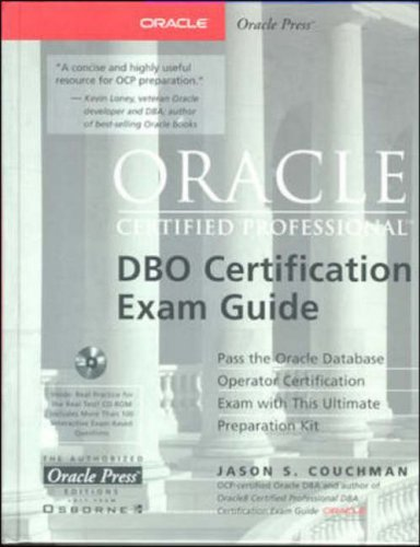 9780072123616: Oracle Certified Professional DBO Certification Exam Guide