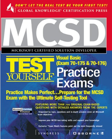 9780072123661: MCSD Visual Basic Test Yourself Practice Exams (Exam 70-175 and 70-176)