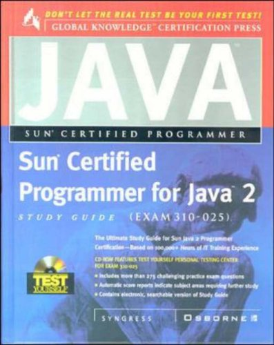 9780072123722: Sun Certified Programmer for Java 2 Study Guide (Exam 310-025) (Certification Press)