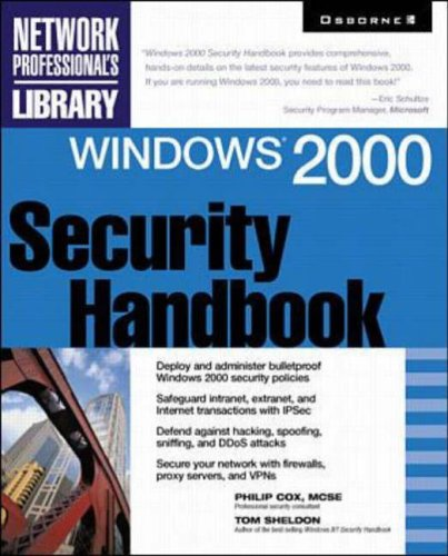 9780072124330: Windows 2000 Security Handbook (Network Professional's Library)