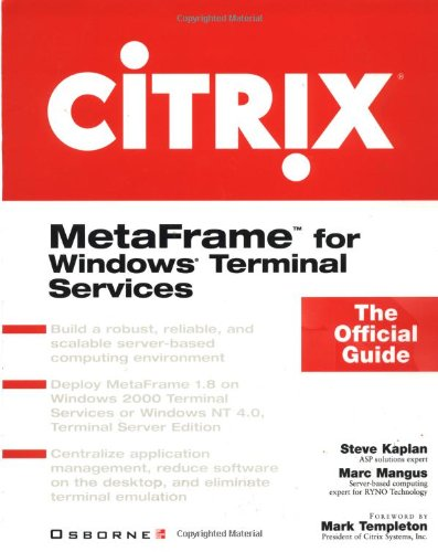 9780072124439: Citrix: MetaFrame for Windows Terminal Services: The Official Guide