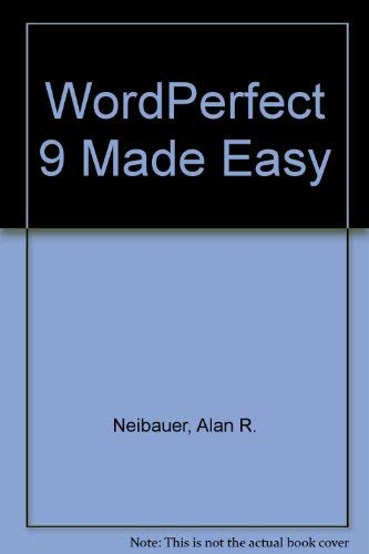 9780072124842: WordPerfect 9 Made Easy
