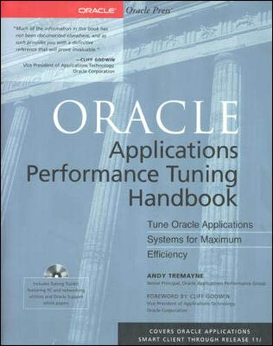 9780072125498: Oracle Applications Performance Tuning Handbook (Book/CD-ROM package)