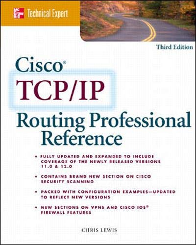 9780072125573: Cisco TCP/IP Routing Professional Reference