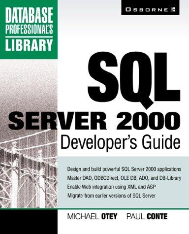 9780072125696: SQL Server 2000 Developer's Guide