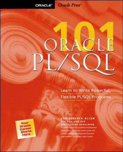 9780072126068: Oracle PL/SQL 101