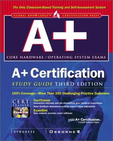 9780072126341: A+ Certification Study Guide, 3rd Edition
