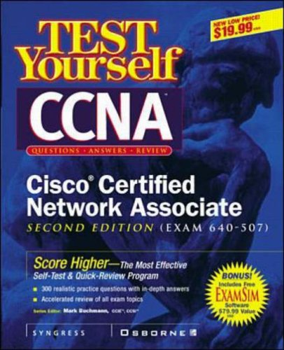 9780072126686: Test Yourself CCNA CISCO Certified Network Associate (Exam 640-507)