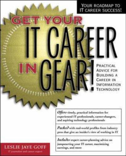 9780072126839: Get Your IT Career In Gear! (Get Ahead!)