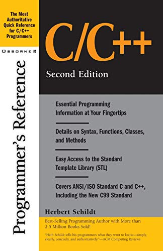 9780072127065: C/C++: Programmer's Reference