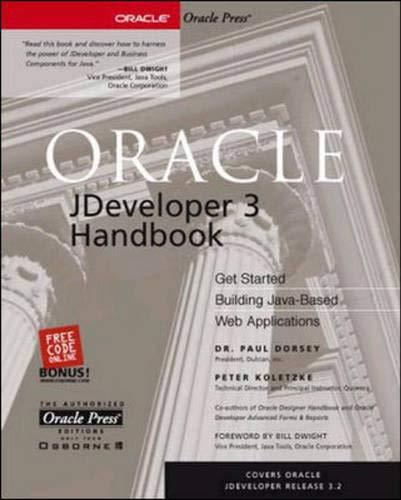 9780072127164: Oracle JDeveloper 3 Handbook (Osborne ORACLE Press Series)