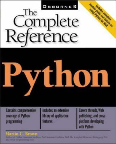 9780072127188: Python: The Complete Reference
