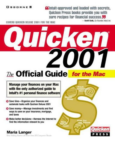 9780072127751: Quicken 2001 for the Mac: The Official Guide (Quicken Press)