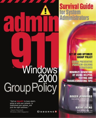 9780072129489: Admin911: Wwindows 2000 Group Policy