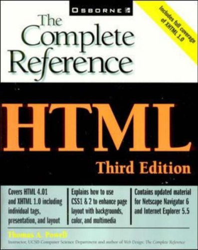 9780072129519: HTML: The Complete Reference
