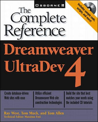 9780072130171: Dreamweaver UltraDev 4: The Complete Reference