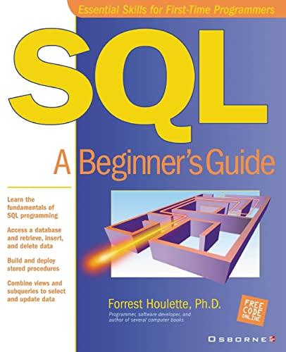 9780072130966: SQL: A Beginner's Guide