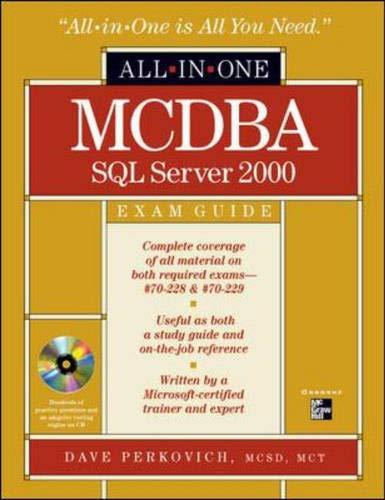 9780072131581: MCDBA SQL Server 2000 All-in-One Exam Guide (Book/CD Set)