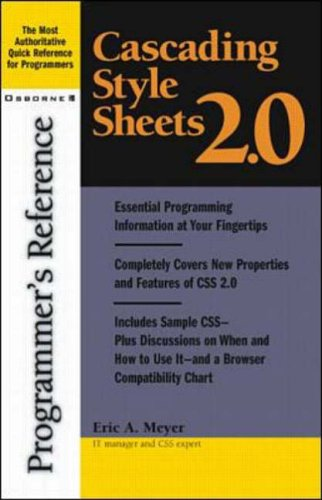 9780072131789: Cascading Style Sheets 2.0 Programmer's Reference