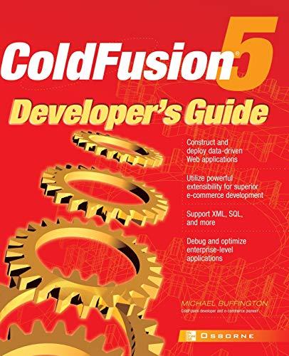 9780072132250: ColdFusion 5® Developer's Guide