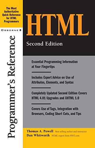 9780072132328: HTML Programmer's Reference, 2nd Edition