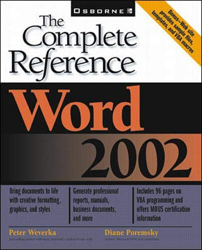 9780072132441: Word 2002: The Complete Reference